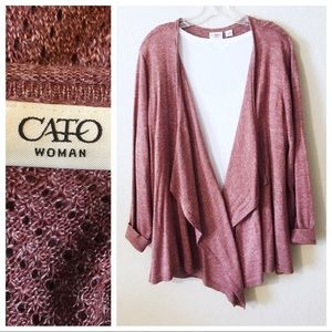 CATO Woman ~ Open Drape Front Sweater - 22/24
